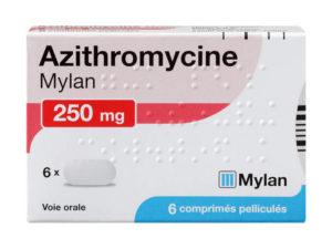 Posologie AZITHROMYCINE SANDOZ 250 mg Comprimé pelliculé Boîte de 6
